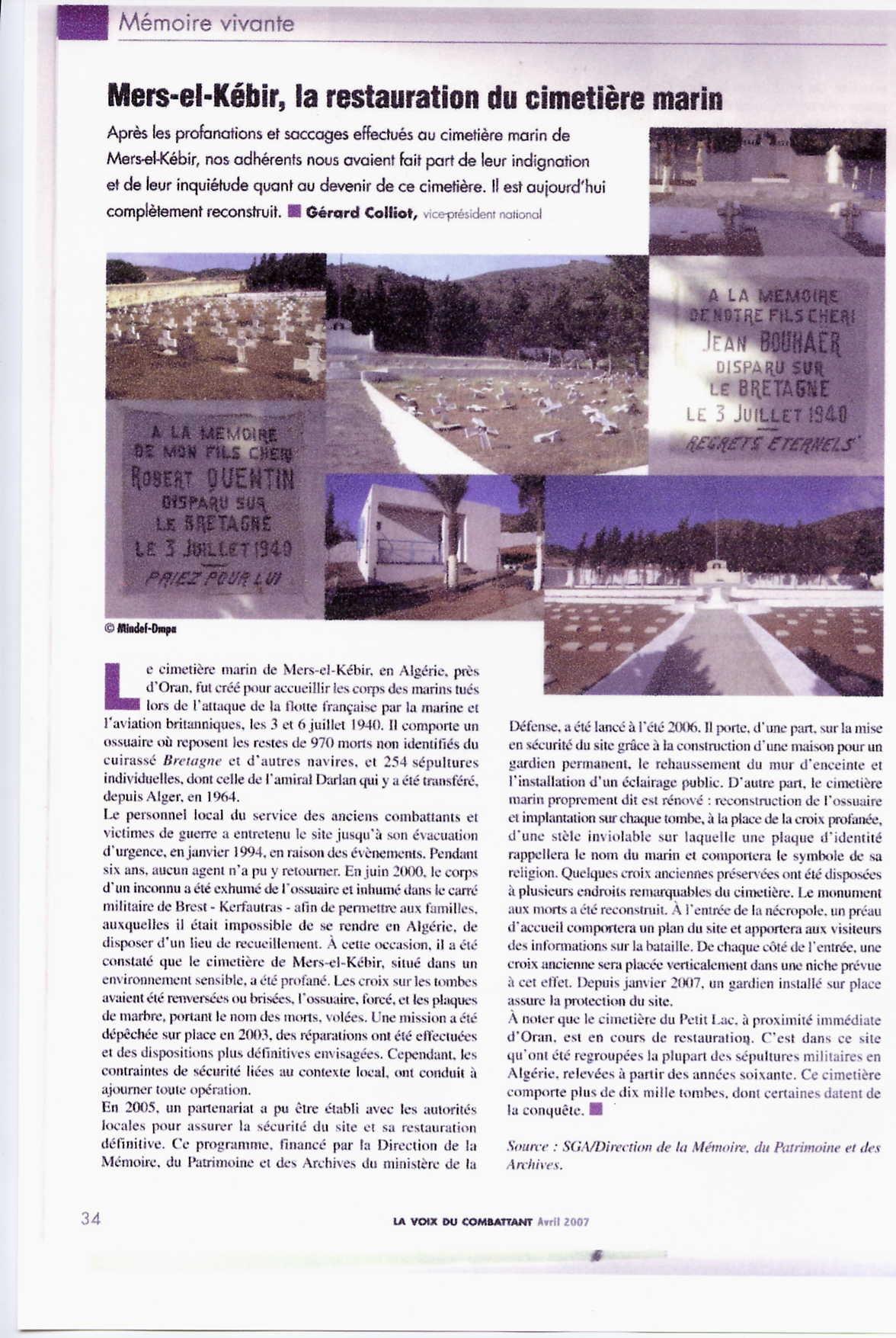 Mers-el-Kébir : restauration dans CIMETIERES merselkbir00012
